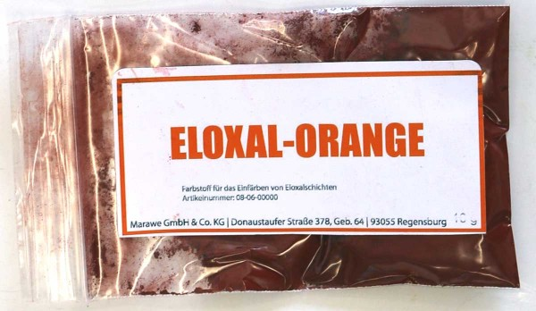 eloxal orange anodize color