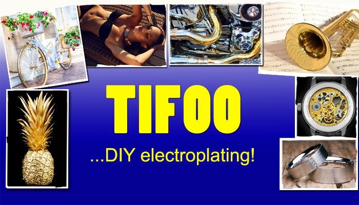 Tifoo - Electroplating and surface treatment supplies - Gold plating kit, Electroless nickel plating,