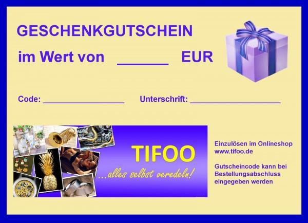 tifoo geschenkgutschein 10 euro